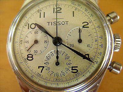 Unique And Very Rare Tissot Chronograph With Lemania Ch27 C12 (Omega 321)