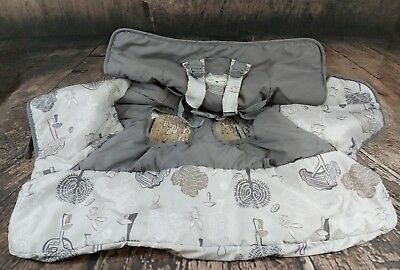 Eddie Bauer Grocery Cart Cover For Baby Shopping Infant Toddler Safety Gray