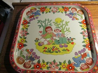 Raggedy ann and andy by pritchard tin tray england
