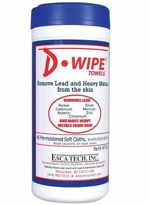 """D-Wipe WT-041 Hand Cleaning Towels Cloth, 40  6"""" x 8"""" Remove Lead from the skin"""