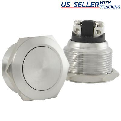 22mm Starter Switch / Boat Horn Momentary Push Button Stainless Steel Metal
