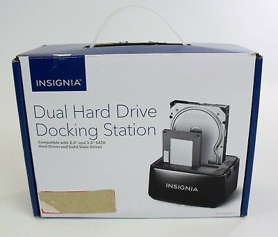 Insignia Dual Hard Drive Docking Station New