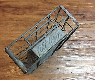 Vintage Metal Coca Cola 24 Bottle Metal Wire Carrier Crate