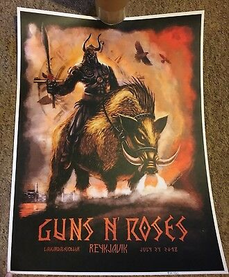 Guns N' Roses ULTRA RARE Reykjavik Lithograph #104 Iceland Not in this lifetime