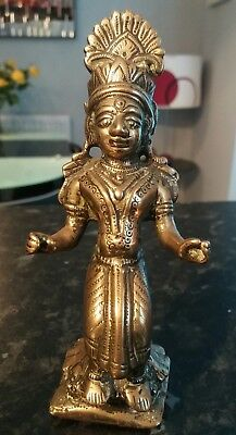 stunning early antique Indian daiety god brass sculpture figure