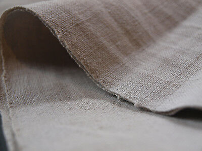 Old Antique Handwoven Linen Natural Flax Vintage Homespun Organic Fabric 4 YARDS
