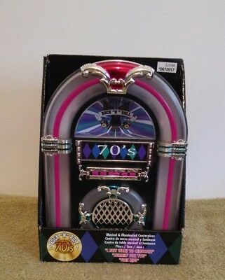 "Rock ""N"" Roll 70s Musical & Illuminated Jukebox Centerpiece~STORE DISPLAY"