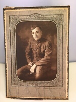 WWI Army Soldier Portrait Photo 83rd Infantry Co S Service & Discharge Chevron