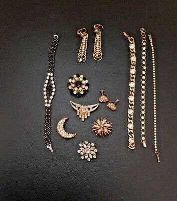 Vintage Lot of Rhinestone Jewelry - 11 Pieces