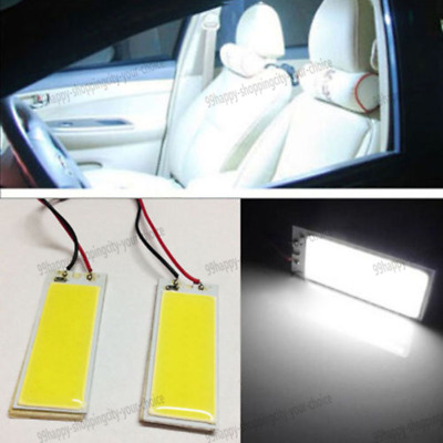 Car Interior Panel Lamp Xenon HID White 36 COB LED Dome Map Light Bulb 12V 2pcs