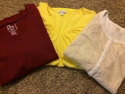 womens shirts plus size 2x 18/20 lot of 3 short sleeve t-shirts
