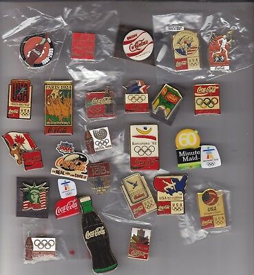 25 Assorted Coca-Cola Pins Olympic, Soccar,   Football Special Events   .#10