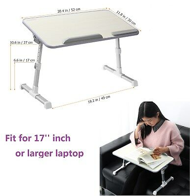 Multi-Fuction Laptop Notebook Computer Home Desk Bed Tray Table w/ Foldable Legs