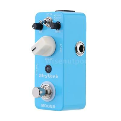Mooer Sky Verb Micro Mini Reverb Effect Pedal for Electric Guitar True S2J8