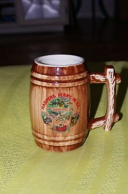 Harpers Ferry, W. VA ceramic barrel shaped mug