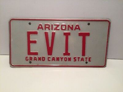 "ARIZONA VANITY AUTO LICENSE PLATE ""EVIT"" GRAND CANYON STATE East Valley IT Tech"