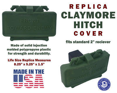 CLAYMORE HITCH COVER * Life Size Replica Claymore Mine