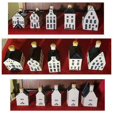 Lot of 5: Blue Delft Houses for KLM by BOLS (SEALED) ~ #4  #7  #19  #26  #35