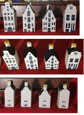 Lot of 4: Blue Delft Houses for KLM by BOLS (SEALED) ~ #42  #54  #70  #71