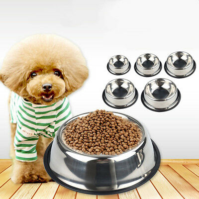 Pet Feeding Bowl Puppy Dog Water Food Bowl Container NonslipDrinking Dish S-3XL