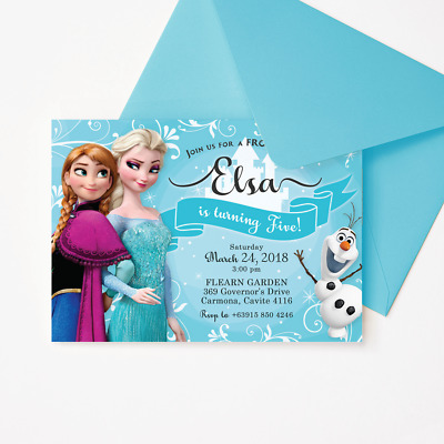 image about Elsa Printable identify FROZEN ELSA INVITATION, Printable/Electronic