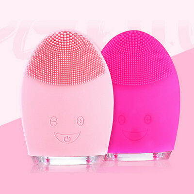 Facial Cleaning Brush Electric Massage Washing Silicone Facial Cleansing Device