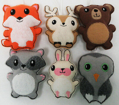 Woodland Themed Baby Mobile Charms Fox, ,Racoon,Deer, Bear, Bunny  and Owl