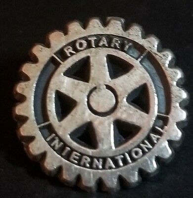 "Rotary International 92.5 5/8"" RARE Silver ""Rotary Wheel"" Lapel Pin"