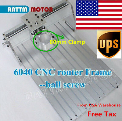 【US stock】6040 CNC router engraving milling machine frame with 80mm motor Clamp