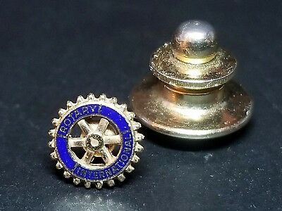 "RARE Small Rotary International ""Rotary Wheel"" Lapel Hat Pin"