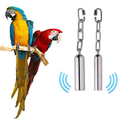 Large Parrot Toy Stainless Steel Bell / Parrot Cage Toy / Station Bell w