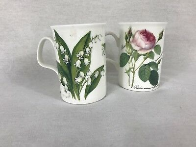 ROY KIRKHAM REDOUTE ROSE Fine Bone China LANCASTER Set Of Mugs Lily Of Valley