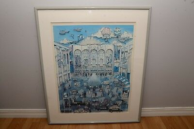"""Charles Fazzino """"lincoln Center"""" 3D Art - Artist Signed And Numbered 176/200"""