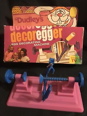 Vintage 1977 Dudley's Decoregger Easter Egg Decorating Machine As Seen On Tv