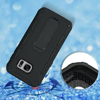 Heavy Duty Shock Proof Builders Hard Case Cover With Stand For Samsung S7 S7Edge