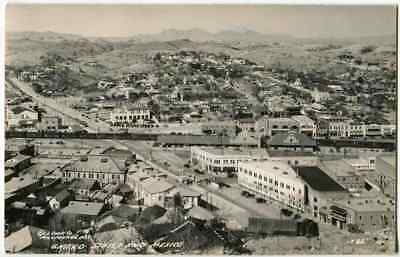 RPPC Birds Eye View Border Nogales AZ Arizona Mexico 1940s