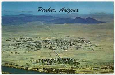 Aerial Town View Parker AZ Arizona 1965