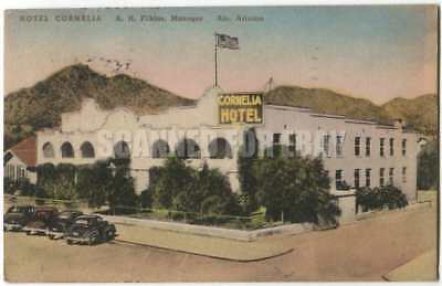 Hotel Cornelia, Ajo AZ Arizona Colored Albertype 1940s
