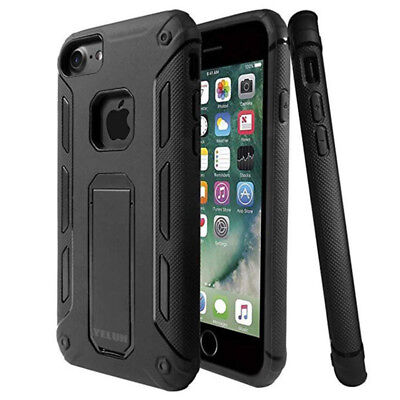 Heavy Duty Shock Proof Builders Hard Case Cover With Stand For Iphone 7 8Plus
