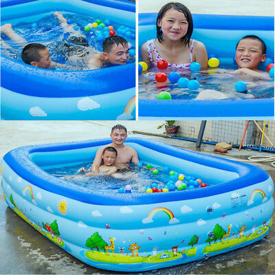 Movable Inflatable rectangular inflatable family swimming pool Ball game pool LK