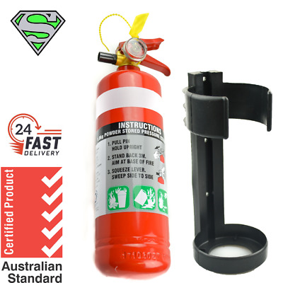 1kg Fire Extinguisher Abe Dry Powder With Plastic Bracket Kitchen Car Boat 4WD