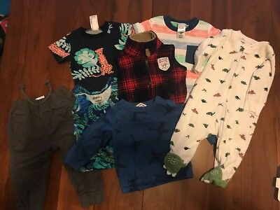 Baby Boy Bulk Lot Size 000 0 To 3 Months Country Road Bonds Carters 7 Items