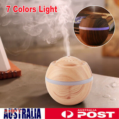 500ml USB Ultrasonic Oil Essential Aroma Diffuser Humidifier Air Purifier LED AU