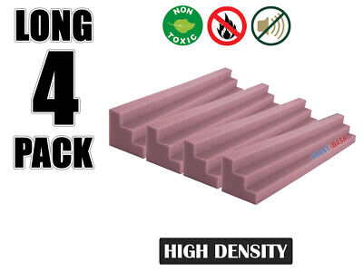 Hobby Dash 12 x 12 x 48 cm Purple Wedge Bass Trap Acoustic Studio Foam 4 pcs