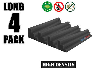 Hobby Dash 12 x 12 x 48 cm Black Wedge Bass Trap Acoustic Studio Foam 4 pcs