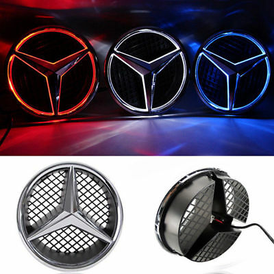 Illuminated LED Light Emblem Logo Grid LED Badge Front Light For Mercedes Benz