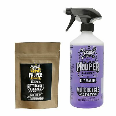 Proper Cleaner By Guy Martin Motorcycle Kit -Trigger Bottle & 4 x 750ml Capsules