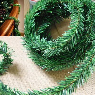 18ft 5.5M DIY Garland Christmas Decor Fireplace Tree Pine Leaves Wreaths Rattan