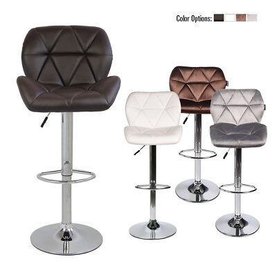 Set Of 4 Pub Bar Stools Adjustable Swivel Seat Counter Top Chair Dining Kitchen