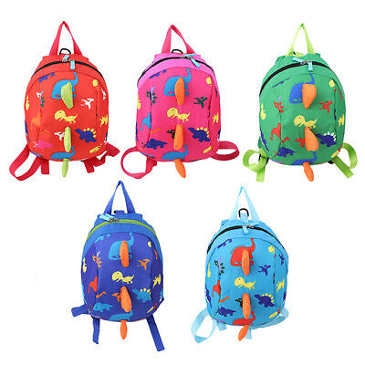Kids Safety Harness Backpack Leash Child Toddler Anti-lost Dinosaur Bag 8C